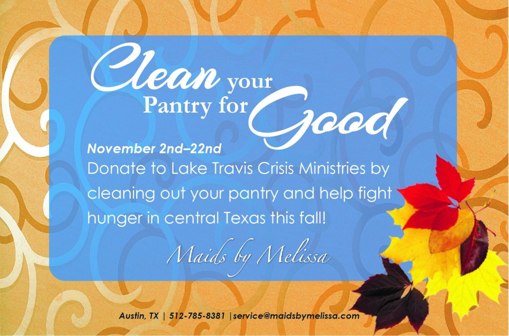 Clean out your pantry for GOOD this November.